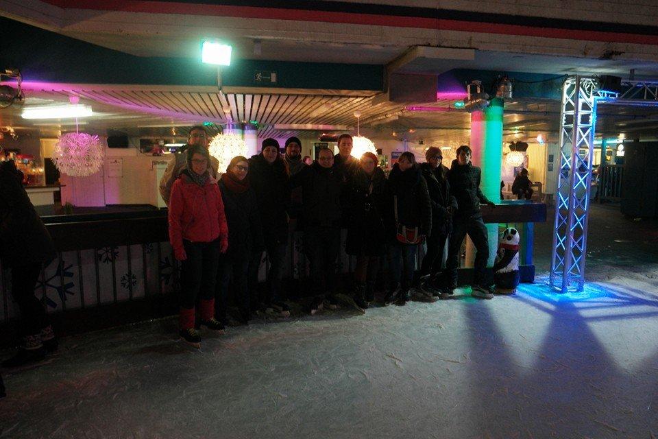 Gruppenfoto Eislaufen in Hamburg, 27. Februar 2016, © Lion Squares Germany e. V.